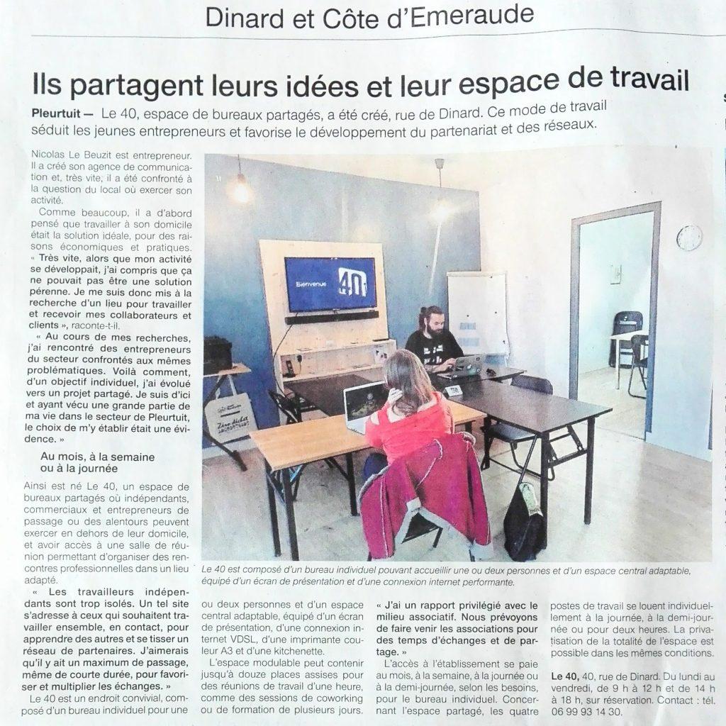 Bureau partagé et coworking à Pleurtuit